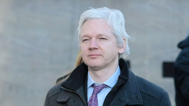 WikiLeaks founder Julian Assange says he moved into the Ecuadorean Embassy in London after a suspicious visit from a security contractor. Feb. 2 file photo. UPI/Hugo Philpott
