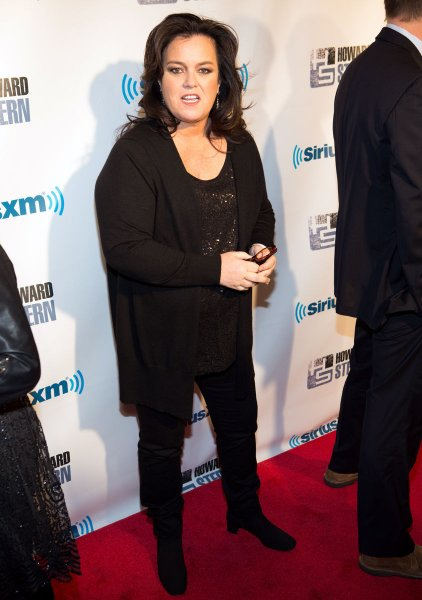 Rosie O'Donnell arrives on the red carpet at SiriusXM's 'Howard Stern Birthday Bash' at Hammerstein Ballroom in New York City on February 1, 2014. UPI/Justin Alt
