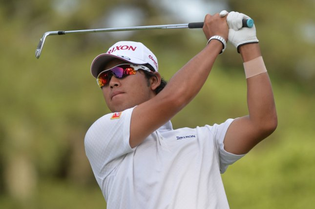 Hideki Matsuyama watches his drive from the 15th tee box during round 2 of the 114th U.S. Open at Pinehurst No. 2 in Pinehurst, NC, on June 13, 2014. File Photo by Kevin Dietsch/UPI