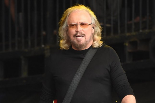 Barry Gibb is working on a Bee Gees stage musical. File Photo by Rune Hellestad/ UPI