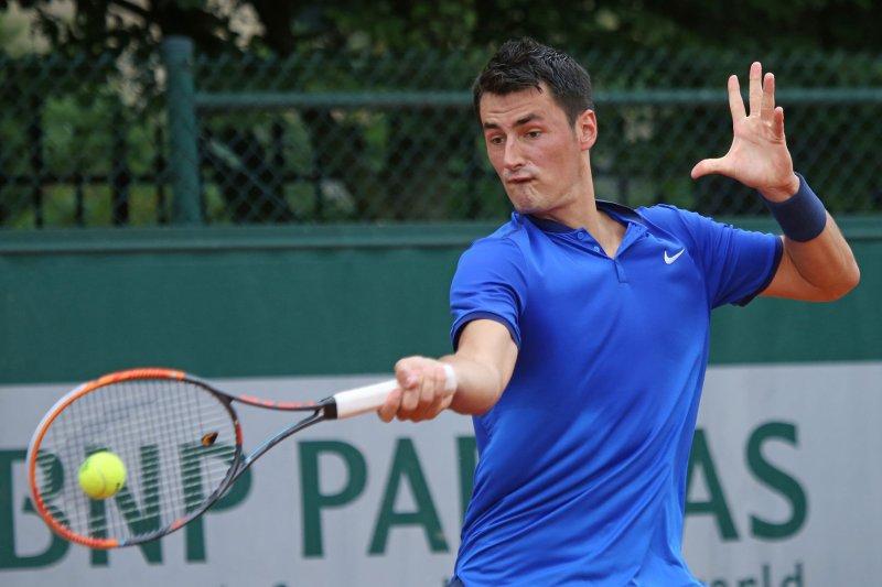 Bernard Tomic's Wimbledon loss was the shortest men's match at the tournament since 2004. File Photo by David Silpa/UPI