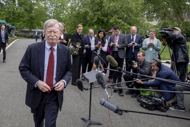 Former national security adviser John Bolton says in his upcoming book that he was told directly by President Donald Trump he withheld military aid from Ukraine in exchange for investigations into Joe Biden and his son. File Photo by Tasos Katopodis/UPI