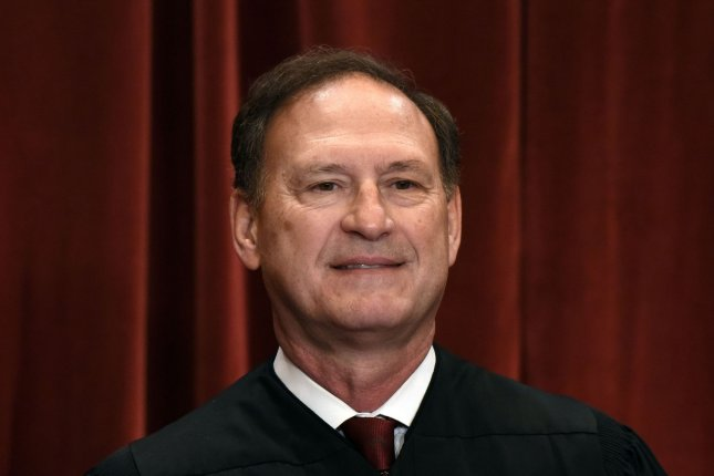 Associate Justice Samuel Alito Jr. is shown as members of the U.S. Supreme Court pose for a group photograph in Washington, D.C., on June 1 2017. He turns 70 on April 1. File Photo by Olivier Douliery/UPI