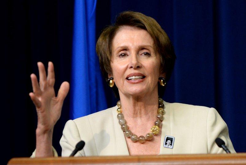 House Minority Leader Nancy Pelosi. UPI/Pat Benic
