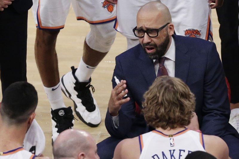 Head coach David Fizdale leads his New York Knicks against the Orlando Magic on Sunday. Photo by John Angelillo/UPI