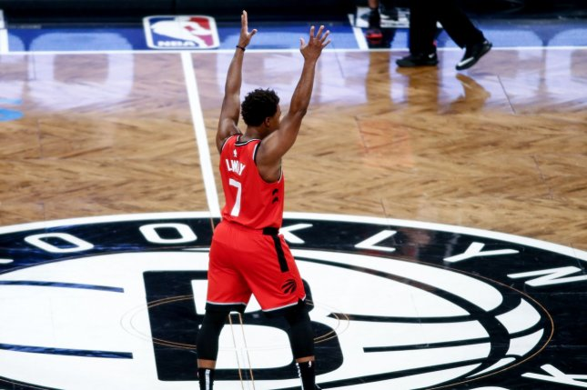 Kyle Lowry is the only player on the Toronto Raptors' roster who has played more than four full seasons with the franchise. Photo by Nicole Sweet/UPI