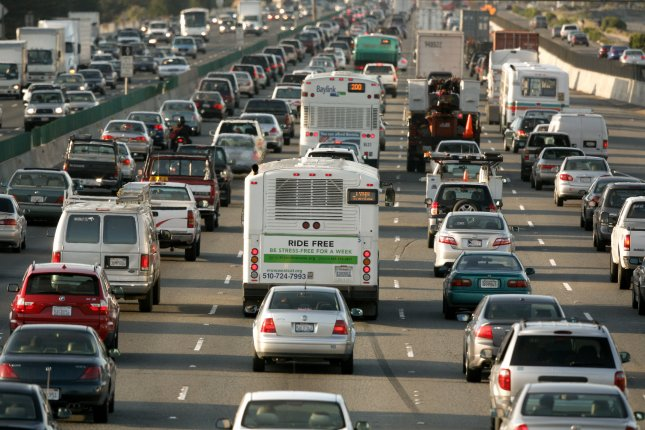 Bay area morning traffic backs up before the 880/580 split near Ashby Avenue in Berkeley, California in 2007. File Photo by Aaron Kehoe/UPI
