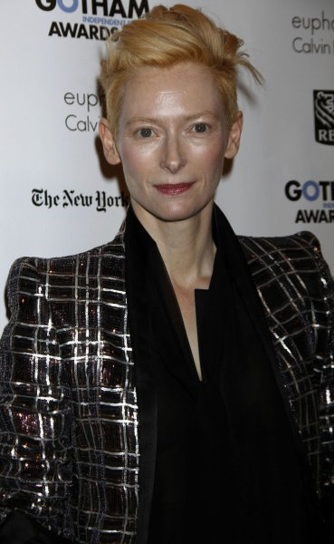 Tilda Swinton arrives for the IFP's 21st Annual Gotham Independent Film Awards at Cipriani Wall Street in New York on November 28, 2011. UPI /Laura Cavanaugh