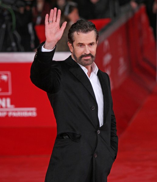 Rupert Everett arrives on the red carpet before a screening of the film Hysteria during the 6th Rome International Film Festival in Rome on October 28, 2011. UPI/David Silpa