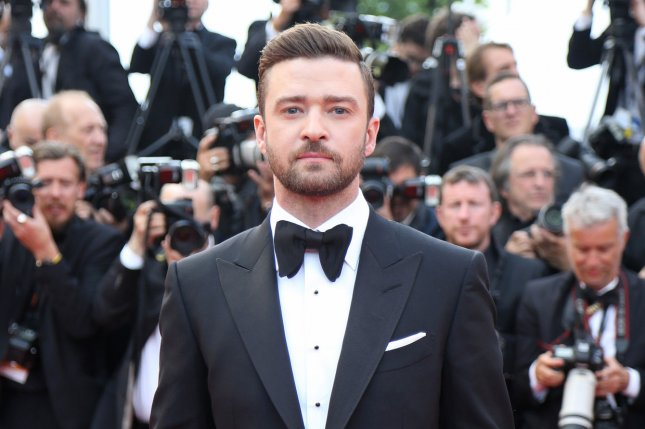 Justin Timberlake arrives on the red carpet before the screening of the film Cafe Society at the opening of the 69th annual Cannes International Film Festival in Cannes, France, on May 11, 2016. Timberlake will be given the Decade Award during the Teen Choice Awards on July 31. File photo by David Silpa/UPI