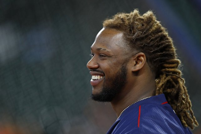 Former Boston Red Sox designated hitter Hanley Ramirez is on track to make the team's roster after signing in February as a free agent. Ramirez is hitting .282 in spring training. File Photo by Aaron M. Sprecher/UPI