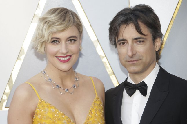 Greta Gerwig (L) and Noah Baumbach will co-write the Barbie movie. File Photo by John Angelillo/UPI