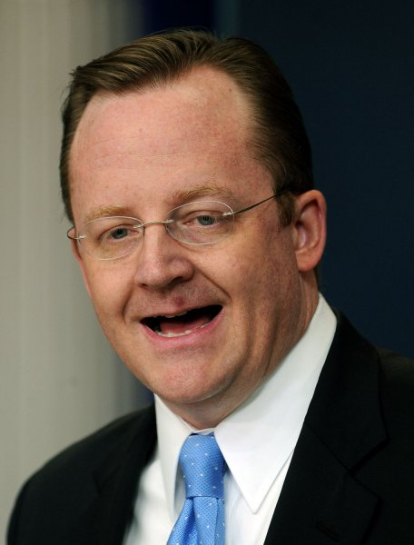 White House Press Secretary Robert Gibbs speaks during a daily press briefing in the Brady Press Briefing Room of the White House in Washington on January 28, 2011. The briefing focused on the ongoing riots in Egypt. UPI/Roger L. Wollenberg