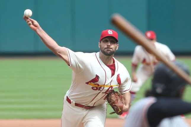 St. Louis Cardinals starting pitcher Adam Wainwright delivers a pitch to the San Francisco Giants in the seventh inning on September 22 at Busch Stadium in St. Louis. Photo by Bill Greenblatt/UPI