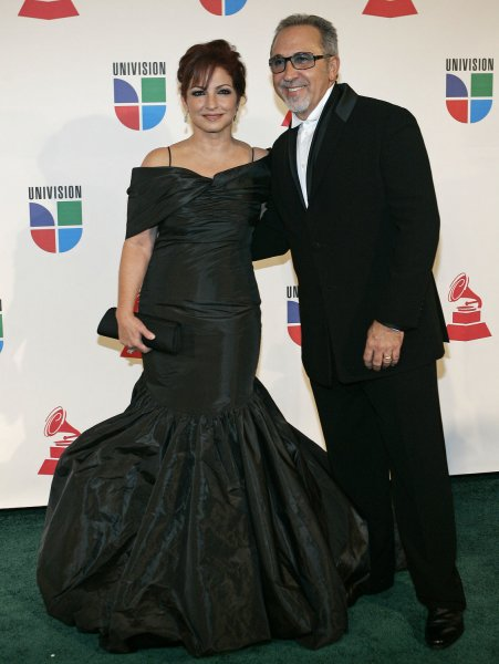 Gloria and Emilio Estefan arrive at the 9th annual Latin Grammy Awards at the Toyota Center in Houston, Texas on November 13, 2008. (UPI Photo/Michael Bush)