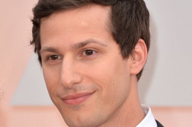 Andy Samberg arrives on the red carpet at the 87th Academy Awards at the Hollywood & Highland Center in Los Angeles on Feb. 22, 2015. File Photo by Kevin Dietsch/UPI