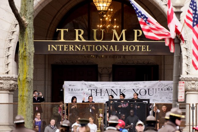 Trump International Hotel employees attend an inauguration ceremony on January 20 in Washington, D.C File Photo by Michael Wiser/UPI