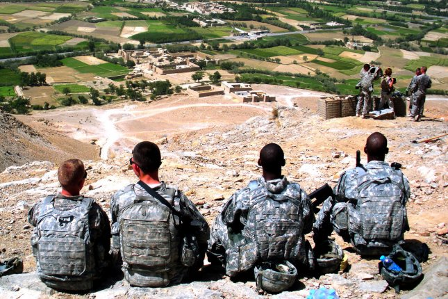 U.S. Army Soldiers rest atop of OP Spur in Logar, Afghanistan on September 8, 2009. A U.S. service member recently died after an operation in the province. File Photo by Wayne Gray/U.S. Army/UPI
