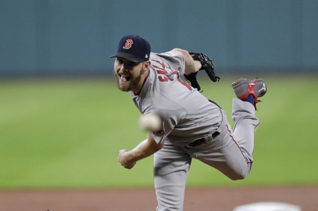 Chris Sale and the Boston Red Sox face the New York Yankees in the New York Yankees in Game 1 of the ALDS on Friday. Photo by Eric Gay/UPI