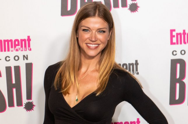 Adrianne Palicki said she's so happy to be engaged to Scott Grimes. File Photo by Howard Shen/UPI