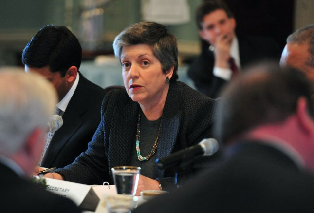 Homeland Security Secretary Janet Napolitano speaks during the State Department's annual meeting of the President's Interagency Task Force to Monitor and Combat Trafficking in Persons, at the State Department in Washington on February 1, 2011.