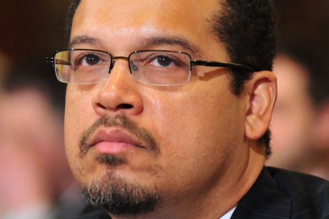 Rep. Keith Ellison, D-Minn., was listed in a new issue of the Islamic State's official magazine on Wednesday with multiple Western Muslims as persons the militant group believes should be killed. Longtime Hillary Clinton aide Huma Abedin was also included on the list. File Photo by Kevin Dietsch/UPI