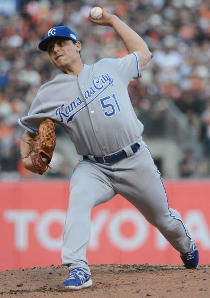Jason Vargas and the Kansas City Royals have won nine in a row. UPI/Terry Schmitt
