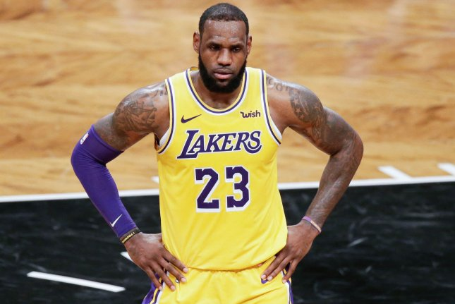 Los Angeles Lakers star LeBron James was passionate enough about Dallas Mavericks' Harrison Barnes being traded during a game to share his thoughts on social media. Photo by John Angelillo/UPI