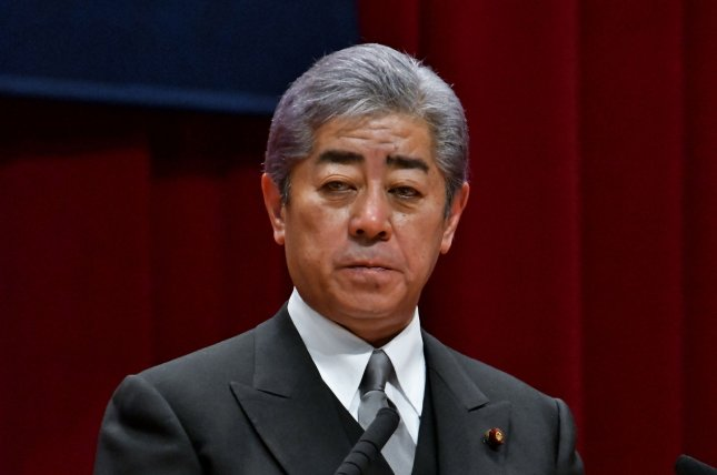 Japan's Defense Minister Takeshi Iwaya said Tuesday he would not confirm whether the United States has approached Tokyo about a coalition in the Middle East. File Photo by Keizo Mori/UPI
