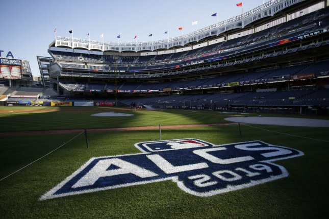 The New York Yankees trail only the NFL's Dallas Cowboys in estimated value across all sports, according to Forbes. File Photo by John Angelillo/UPI