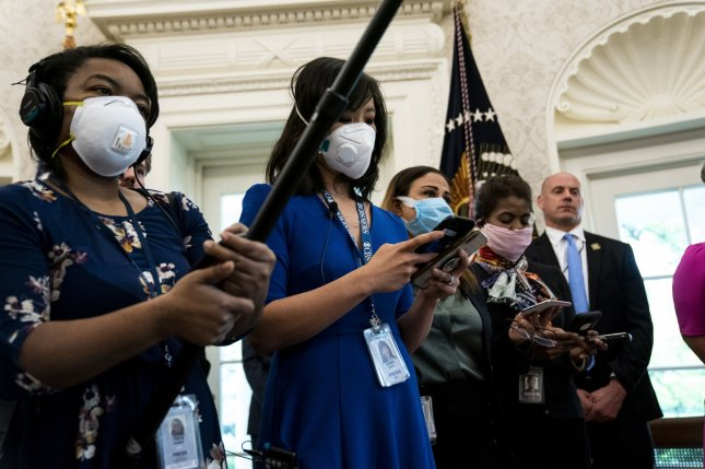 The White House on Monday scaled back temperature checks for visitors after loosening face mask restrictions in the West Wing last week. File Photo by Anna Moneymaker/UPI