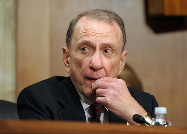 Pennsylvania Sen. Arlen Specter, shown April 28, 2009. when he announced he was switching from the GOP to the Democratic Party. (UPI Photo/Roger L. Wollenberg)