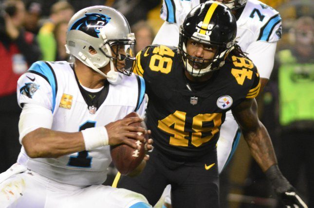 Pittsburgh Steelers outside linebacker Bud Dupree (48) recorded a career-best 11.5 sacks last season. File Photo by Archie Carpenter/UPI