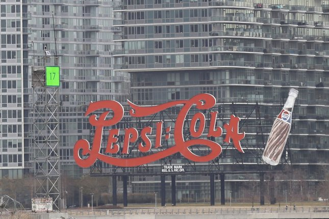 An old-fashioned Pepsi Cola advertisement is seen in Long Island City near the East River in New York City. The company said DrinkWell will go on sale later this year. File Photo by John Angelillo/UPI