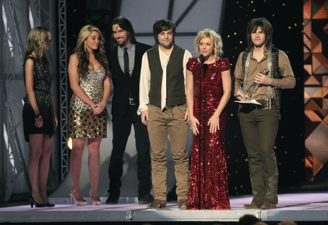 The Band Perry wins New Artist of the Year during the 45th Annual Country Music Association Awards at the Bridgestone Arena in Nashville, Tennessee on November 9, 2011. UPI/John Sommers II