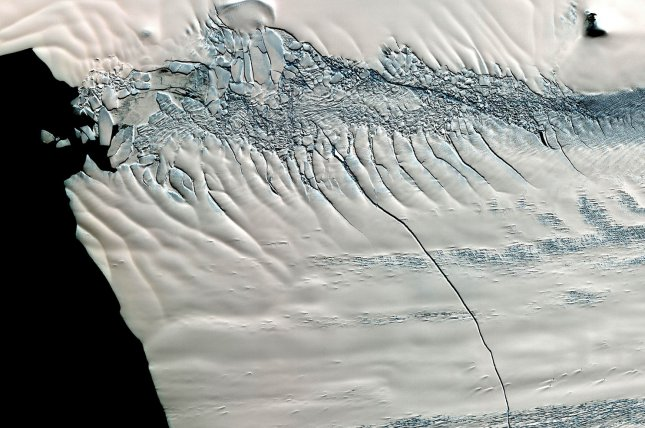 Researchers found a surprisingly strong upward heat flow from geothermal sources beneath the West Antarctic Ice Sheet. File photo by UPI/ NASA