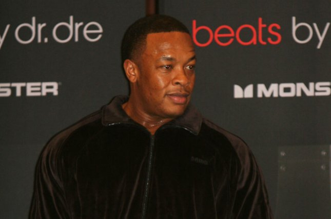 Dr. Dre appears at the International Consumer Electronics Show in Las Vegas in 2008. File Photo by UPI Photo/Daniel Gluskoter)