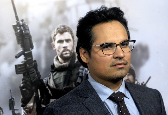 Michael Pena is seen as an undercover DEA agent in new set photos from Narcos: Mexico. File Photo by Dennis Van Tine/UPI