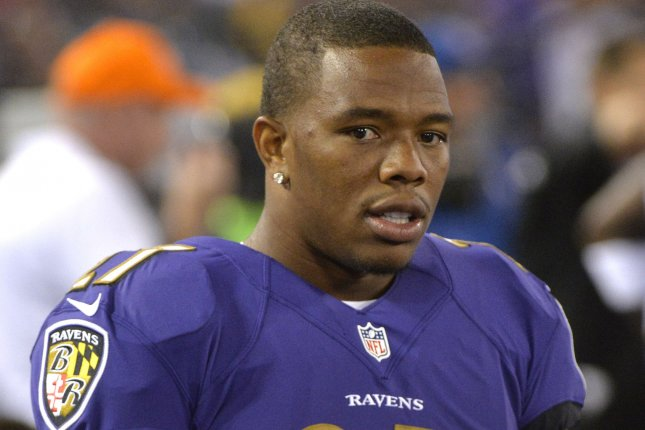 Former Baltimore Ravens star running back Ray Rice has not played since the 2013 season after being released by the team. File photo by Kevin Dietsch