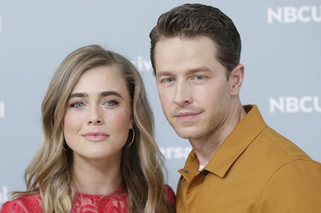 Manifest stars Melissa Roxburgh (L) and Josh Dallas arrive on the red carpet at the 2018 NBCUniversal Upfront on May 2018. NBC has renewed Manifest for a third season. File Photo by John Angelillo/UPI
