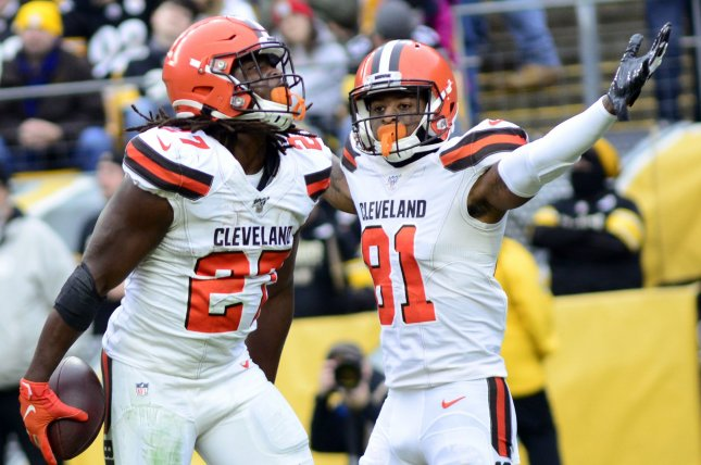 Cleveland Browns running back Kareem Hunt (27) said he thinks his team can advance to a Super Bowl despite a 6-10 record in 2019. File Photo by Archie Carpenter/UPI