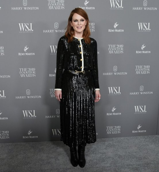 Julianne Moore arrives on the red carpet at the WSJ Mag 2019 Innovator Awards at The Museum of Modern Art on November 6, 2019, in New York City. The actor turns 60 on December 3. File Photo by John Angelillo/UPI