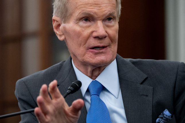 Bill Nelson, NASA Administrator, testifies during his confirmation hearing before the Senate Committee on Commerce, Science, and Transportation on April 21. File Pool Photo by Saul Loeb/UPI