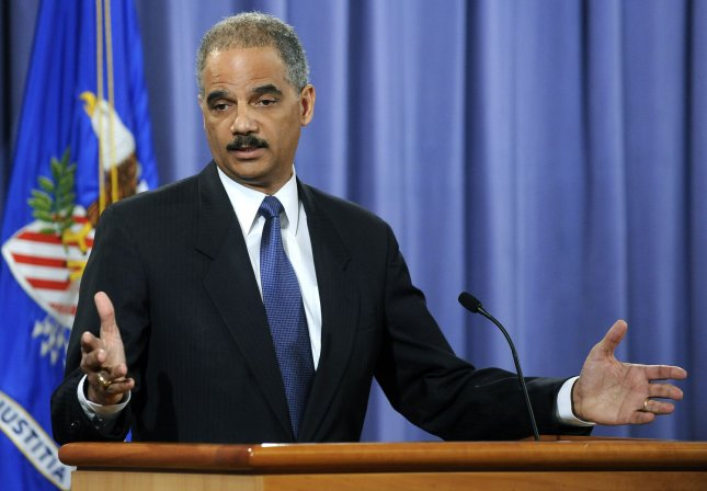 Attorney General Eric Holder at a news conference at the Justice Department in Washington on April 4, 2011. UPI/Roger L. Wollenberg