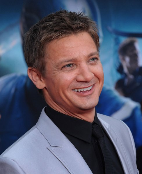 Jeremy Renner, a cast member in the sci-fi motion picture The Avengers, attends the premiere of the film at the El CapitanTheatre in the Hollywood section of Los Angeles on April11, 2012. UPI/Jim Ruymen