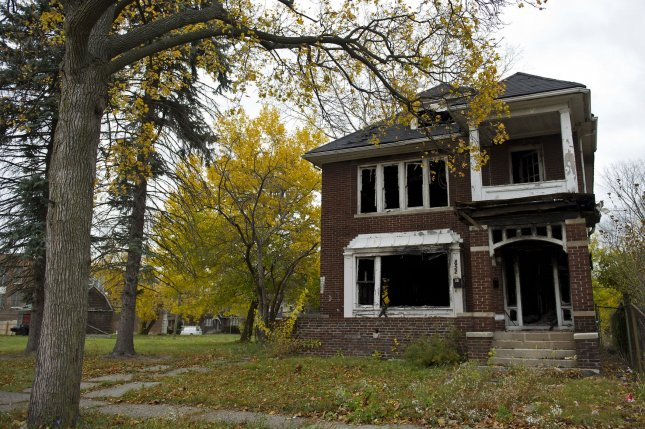 An abandon house is seen in Detroit on October 27, 2012. UPI/Kevin Dietsch