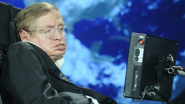 Stephen Hawking, cosmologist and professor at the University of Cambridge. (File/UPI/Kevin Dietsch)