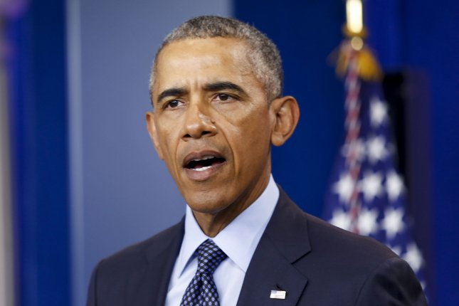 President Barack Obama makes a statement Sunday on the Orlando mass shooting in Florida where at least 50 people were killed. Pool photo by Aude Guerrucci/UPI