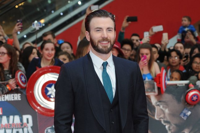 American actor Chris Evans attends the U.K. premiere of Captain America: Civil War at Westfield in London on April 26, 2016. The upcoming Avengers sequel starring Evans as Captain America has become a standalone film. File Photo by Paul Treadway/ UPI