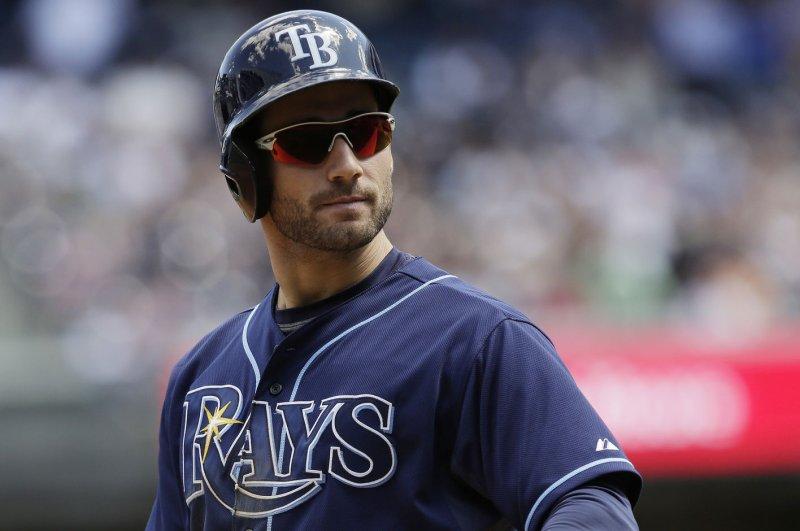 Tampa Bay Rays' Kevin Kiermaier. Photo by John Angelillo/UPI